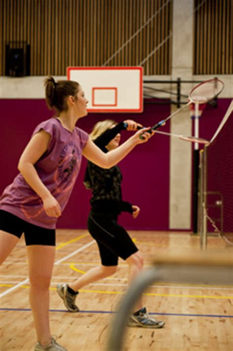 use of badminton courts, facilities and services