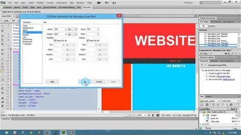 membuat web menggunakan dreamweaver belajar membuat template web menggunakan adobe dreamweaver