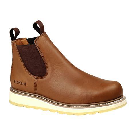 die mens work boots diehard s suretrack pull on soft toe work