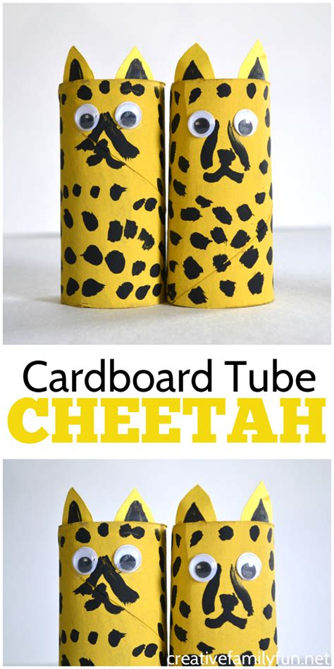 cheetah crafts for cardboard cheetah craft creative family