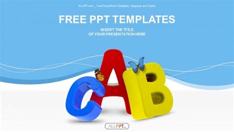 powerpoint templates letters colorful symbols heap of alphabet powerpoint templates