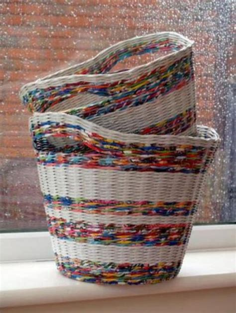 Paper Basket Craft Ideas - diy recycled magazine basket ideas chilli