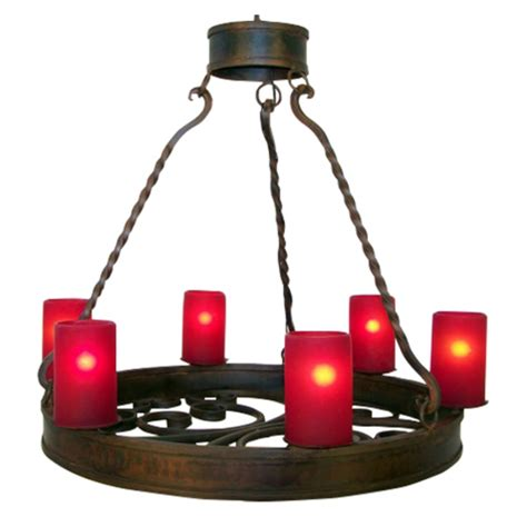 Wrought Iron Vanity Lights 6 Light Forged Wrought Iron Chandelier Uvagchn018