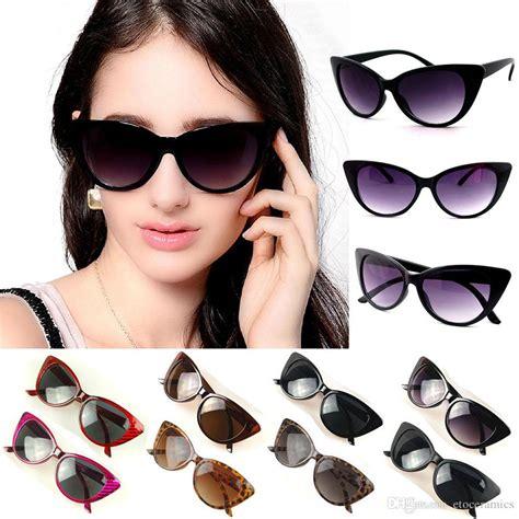 Cat Eye Biru Top s cat eye sunglasses retro classic designer vintage fashion shades black for option womens