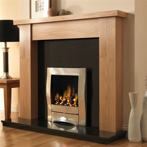 Finish Fireplace by Pureglow Stanford Oak Finish Fireplace Suite Fireplaces