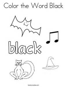 things that are coloring pages color the word black coloring page twisty noodle