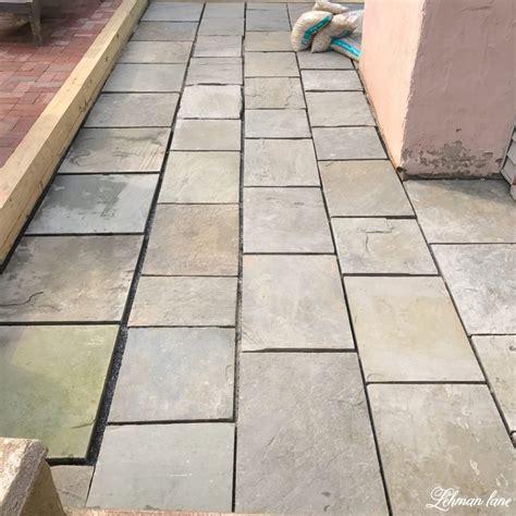 diy flagstone patio lehman