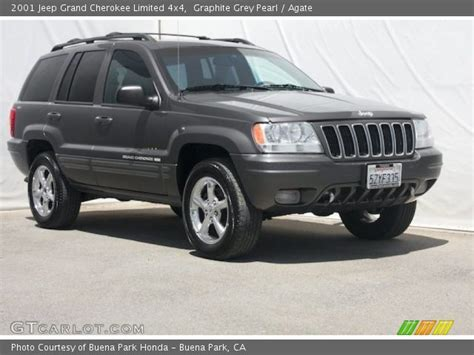 Graphite Grey Pearl 2001 Jeep Grand Cherokee Limited 4x4