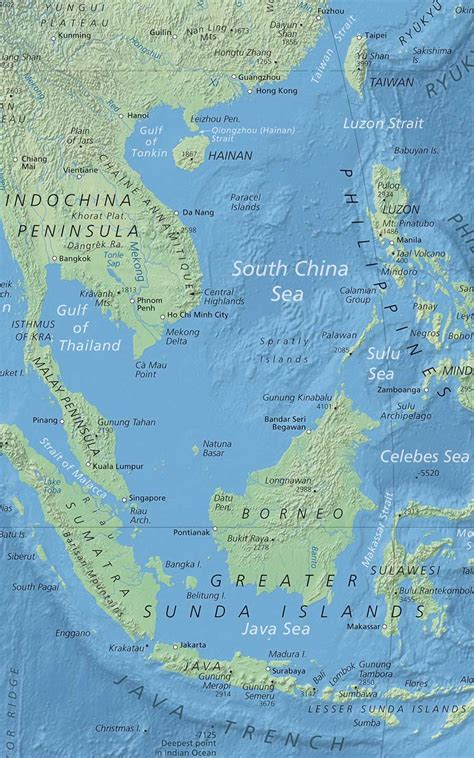 political map  south china sea nations  project