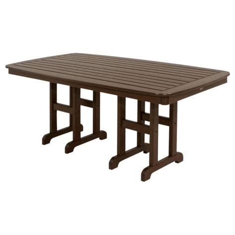 Composite Patio Table Trex Outdoor Furniture Monterey Bay 48 In Classic White Patio Dining Table Txrt248cw