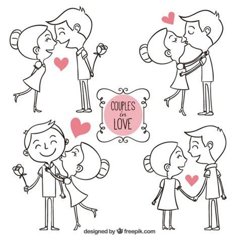 sinastrias zodiacales de pareja gratis parejas enamoradas dibujadas a mano descargar vectores
