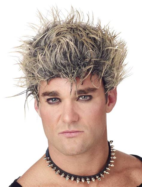 spiked wigs men s black blonde spiked wig spiked wigs