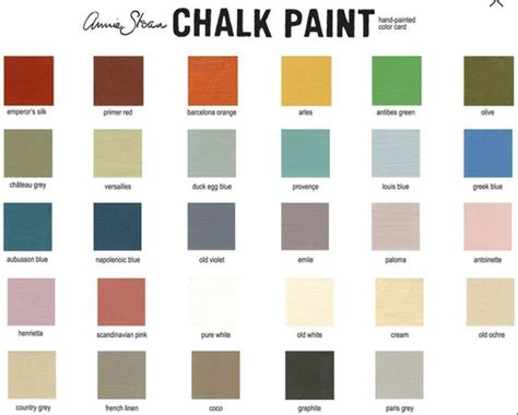 best 20 sloan colour chart ideas on sloan colours chalk paint colours