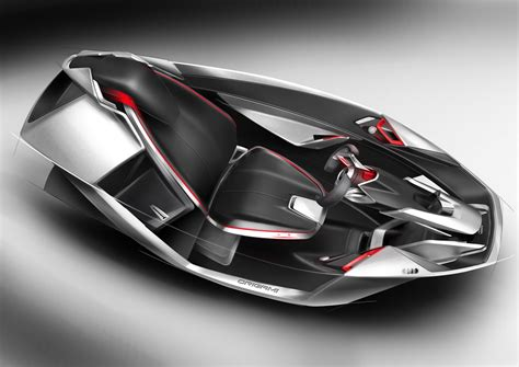 O Ferrari Srl by Spd Concept Car Interior Design Sketches Car Body Design