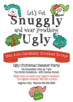 ugly christmas sweater poems sweater invitation 2 ugliest sweaters