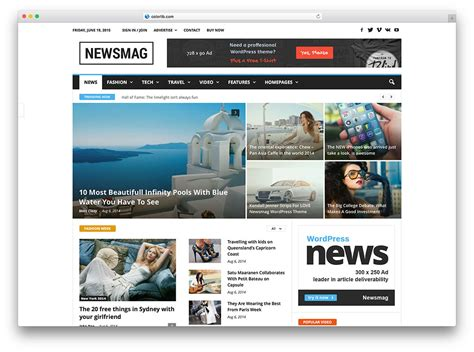 best free site 20 best newspaper themes for news 2018