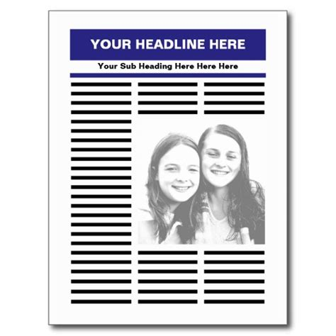 Make Your Own News Paper - best photos of create your own newspaper template