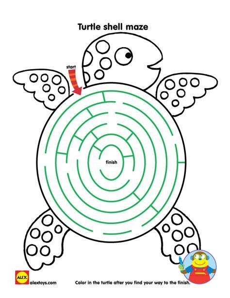 Printable Turtle Maze | printable creative activities for kids alexbrands com