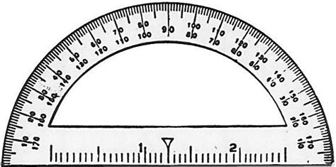 printable protractor with ruler printable protractor cliparts co