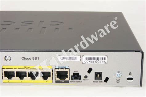 Router Cisco 881 Sec K9 plc hardware cisco cisco881 sec k9 new surplus sealed