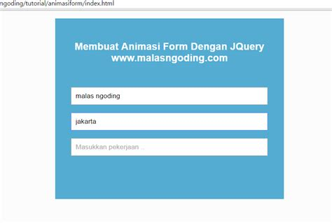 membuat form login keren dengan jquery membuat animasi form dengan jquery malas ngoding