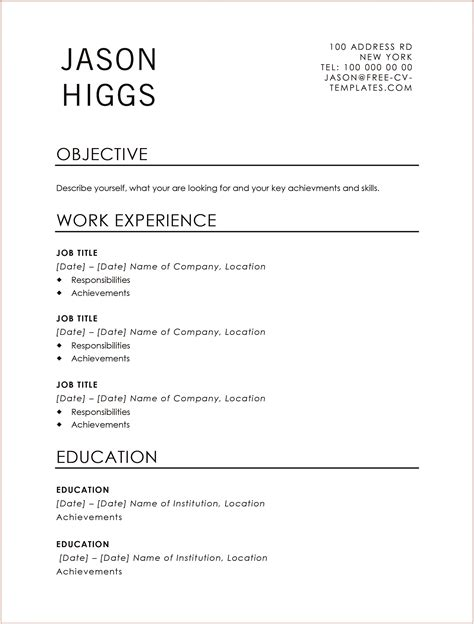 traditional jason land the with this free cv template