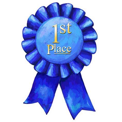blue ribbon 1st place cutout zazzle com
