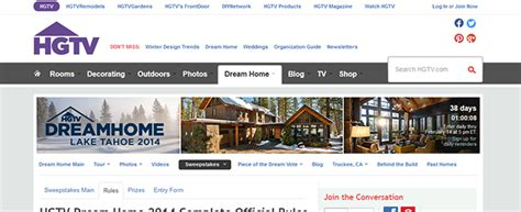 Hgtv Dream Home Giveaway Date - hgtv com hgtv dream home giveaway
