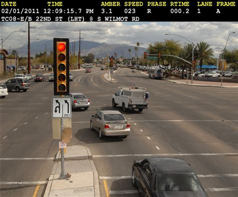 what is the for running a light running a yellow light in tucson don t do it