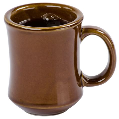 coffe cups 7 oz brown princess bell shaped china coffee mug 36 case