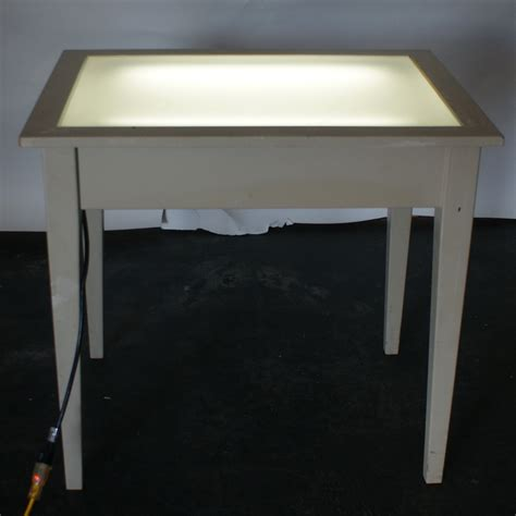 Lighted Table by Vintage Drafting Light Table Desk Wood Glass Ebay