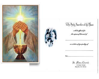mass card template no 30 for deceased mass card