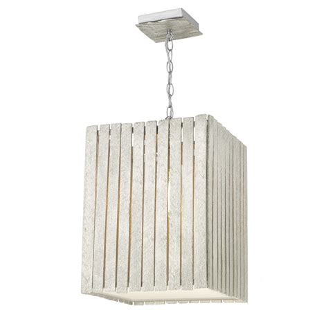 Rectangular Pendant Light Whistler Rectangular Ceiling Pendant Light In Distressed Silver Finish