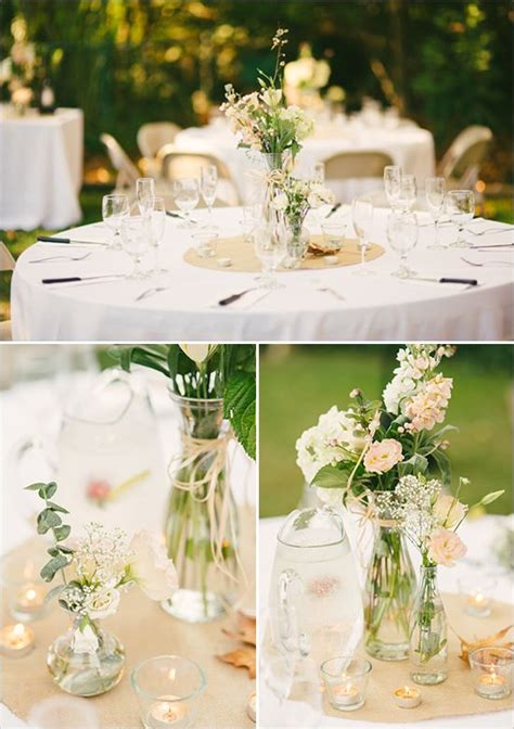 wedding reception decorations round table and centerpieces for