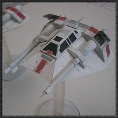 Wars Papercraft Models - wars t 47 airspeeder free paper model