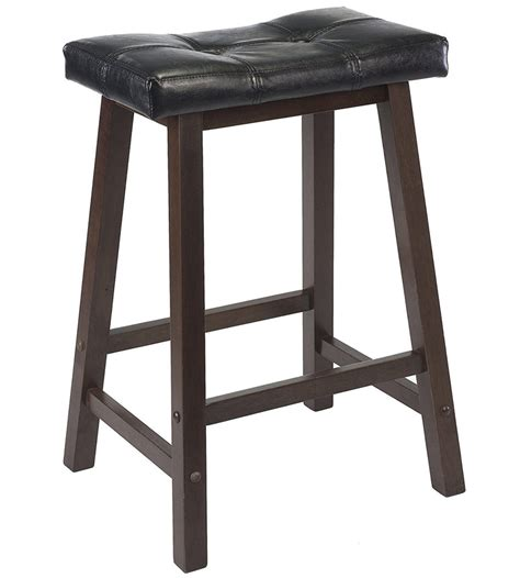 Black Counter Stools by Black Cushion Counter Stool In Saddle Bar Stools
