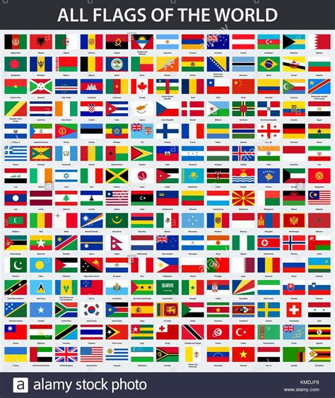 Flags Of The World Order | world flags collection stock photos world flags