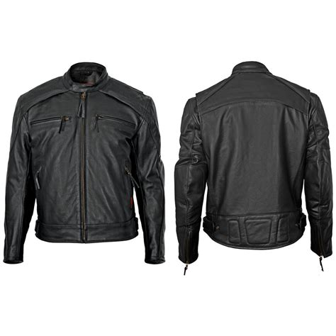 leather motorcycle clothing s leather scooter jacket by milwaukee motorcycle