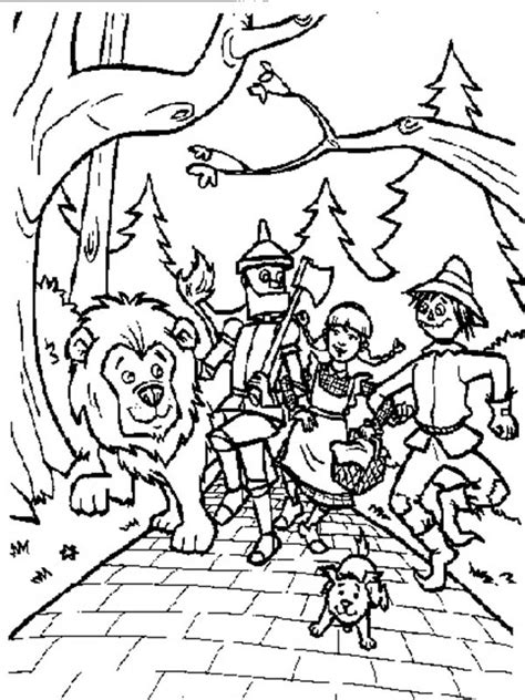 coloring pages for wizard of oz wizard of oz coloring pages collections gianfreda net