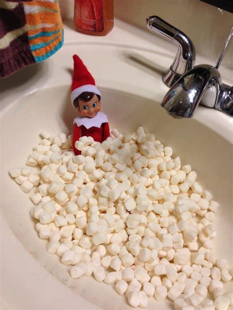 elf on the shelf bathroom elf on a shelf idea marshmallow bath i did it