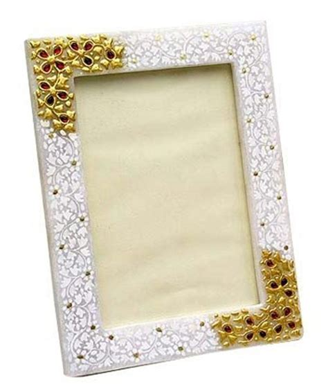 Home Decor Products In India ecraftindia marble photo frame with kundan work buy