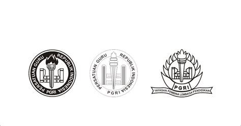membuat logo hitam putih pgri hitam putih logo vector