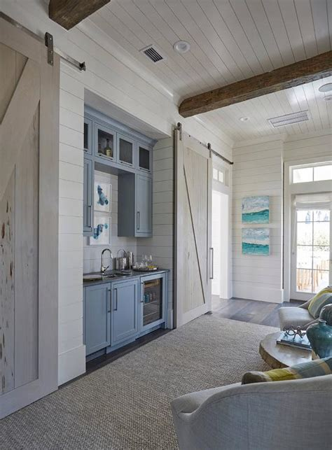 Beautiful Homes Interiors shiplap bar backsplash design ideas