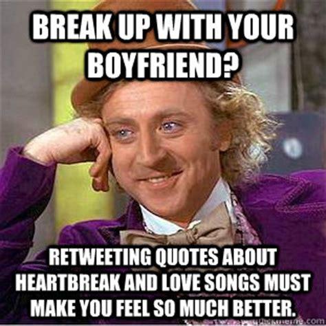 Heart Break Memes - breakups make bodybuilders meme