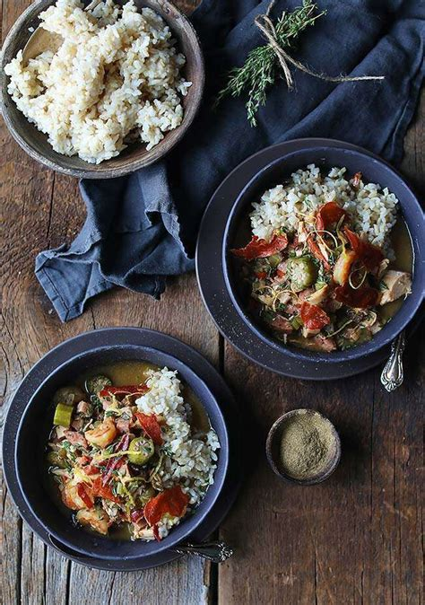 printable gumbo recipes leftover turkey gumbo recipe with shrimp and brown rice