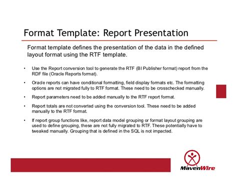 presentation report layout oracle reports to bi publisher conversion lessons learned
