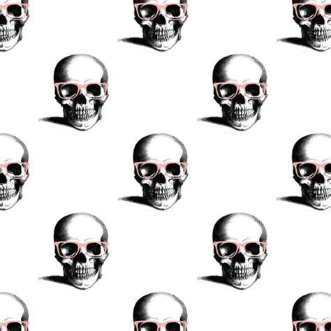 hipster skull wayfarers, pink fabric nicoleporter