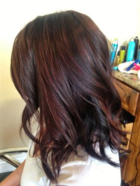 pictuted of red highlights on dark hair with spiky cut long black hair with red highlights pictures life style