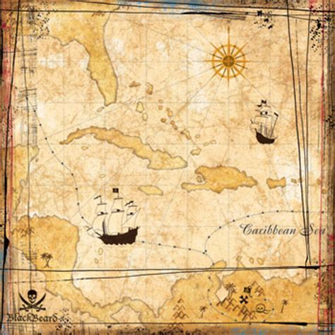 How To Make Pirate Paper - pirate treasure map scrapbook paper nivek