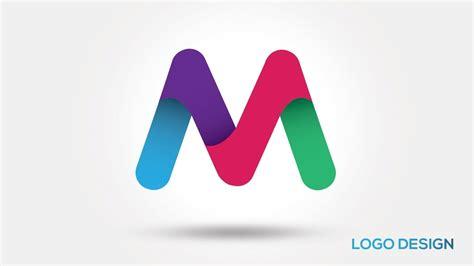 Illustrator Tutorial - 3D Logo Design (lettre M) - YouTube M 3d Logo